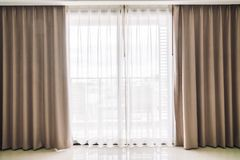 Curtains window stock images
