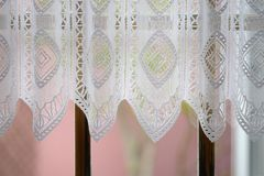 Curtains on window Stock Images