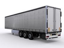 Curtainside trailer Stock Photos