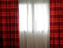Curtaiun window backlit interior Stock Photography