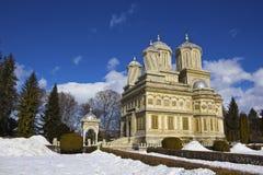 Curtea de Arges μοναστήρι το χειμώνα Στοκ εικόνα με δικαίωμα ελεύθερης χρήσης