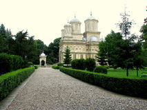 Curtea de Arges Cathedral. The Cathedral of Curtea de Argeș is a Romanian Orthodox cathedral in Curtea de Argeș, Romania Royalty Free Stock Photo