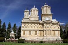 Curtea de Arges Cathedral - iglesia famosa del rumano Foto de archivo