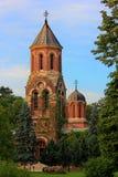 Curtea de Arges Domkyrka torn Arkivbild