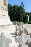 Curtea de Arges Kloster, Rumänien arkivfoto