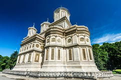 Curtea de Arges Kloster, Rumänien Royaltyfria Foton
