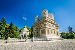Curtea de Arges Kloster, Rumänien Royaltyfri Fotografi