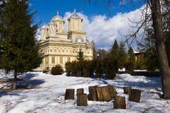 Curtea de Arges Monastery το χειμώνα Στοκ Φωτογραφία
