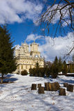 Curtea de Arges Monastery το χειμώνα Στοκ Εικόνες