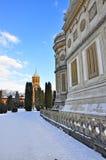 Curtea de Arges monastery garden stock photo
