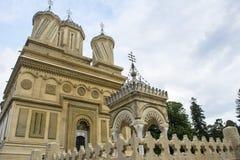 Curtea de Arges. The monastery Curtea de Arges in Arges, Romania Royalty Free Stock Images