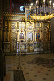 Curtea de Arges Monastery, Romania. Romanian Orthodox cathedral in Curtea de Argeș, Romania. It was built in the Byzantine style, with Moorish arabesques. Here Stock Photography