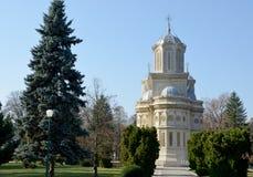 Curtea de Arges Monastery, vue arrière Photo libre de droits