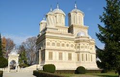 Curtea de Arges Monastery, vue latérale Images libres de droits