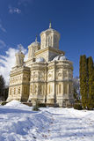Curtea de Arges Monastery in winter Stock Image