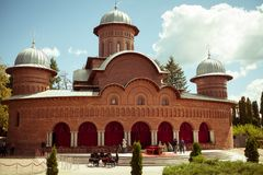 Curtea de Arges new cathedral. Where Romania`s Queen Anne is burried Royalty Free Stock Images