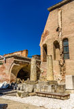 Curtea Veche (老王侯的法院)在布加勒斯特 图库摄影