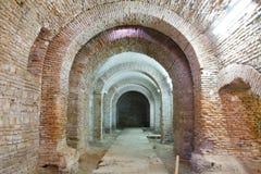Curtea Veche Innenraum (das alte fürstliche Gericht) Stockfotos