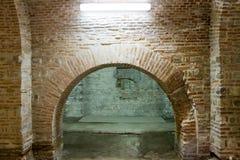 Curtea Veche Interior (den gammala Princely domstolen) Arkivfoton