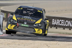 Curtidor FOUST Volkswagen Polo Barcelona FIA World Imagem de Stock