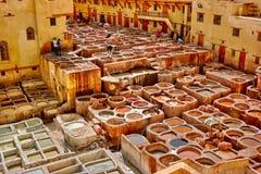 Curtiduría de Fes Fotos de archivo libres de regalías