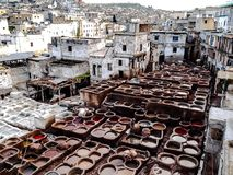 Curtiduría Marrakesh Foto de archivo