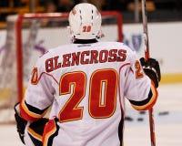 Curtis Glencross Calgary flammor Royaltyfri Fotografi