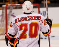 Curtis Glencross, flammes de Calgary Photographie stock libre de droits