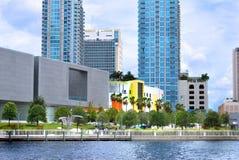 Curtis Hixon parkerar i stadens centrum Tampa Royaltyfri Bild