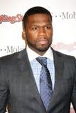 """Curtis Jackson aka """"50Cent"""" chega na festança 2011 de Rolling Stone Pre-Oscar Imagem de Stock Royalty Free"""