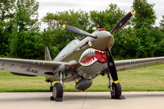 CURTIS P-40E KITTYHAWK Obrazy Royalty Free