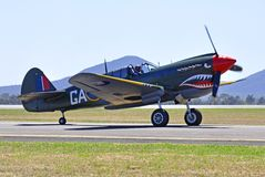 Curtis P40 KITTY HAWK Arkivbild