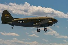 CURTISS C-46 `COMMANDO``TINKER BELLE Stock Images