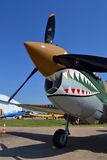 Curtiss P-40 Flying Tiger. A Curtiss P-40 Warhawk mocked up in Flying Tigers paint scheme Royalty Free Stock Photography