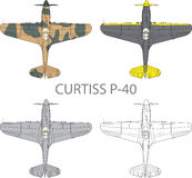 Curtiss P40 Stock Photos