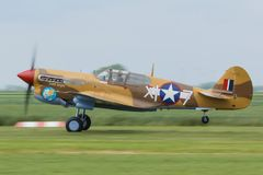 Curtiss P-40 Warhawk Arkivbild