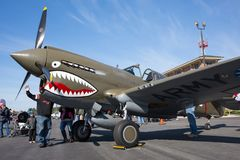 Curtiss P-40 Warhawk kämpe Royaltyfri Foto