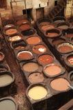 Curtume de Marrocos imagens de stock
