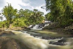 Curug Nangga waterfalls located in Bogor town, West Java, Indonesia.  Stock Photo