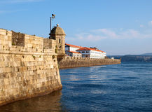 Curuxeiras Pier in Ferrol, Galicia, Spain Stock Image