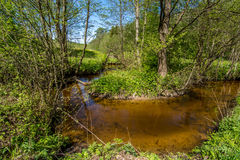 Curv de rivière photo stock