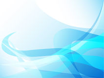 Curva abstracta azul Stock de ilustración