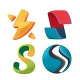 Curva abstracta Logo Symbol Design Vector Fotografía de archivo