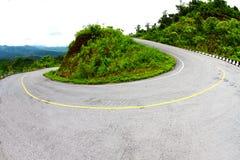 Curva afiada da estrada Fotografia de Stock Royalty Free