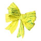 Curva amarela do papel da amoreira no branco Imagem de Stock Royalty Free