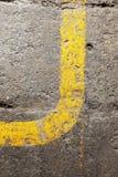 Curva amarilla Imágenes de archivo libres de regalías