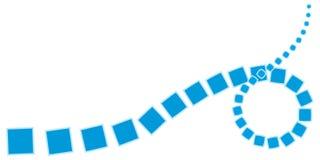 Curva astratta dalle figure semplici illustrazione di stock