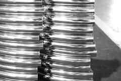 Curva astratta del metallo Fotografia Stock Libera da Diritti