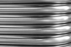Curva astratta del metallo Immagini Stock Libere da Diritti