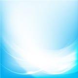 Curva azul da onda do fundo abstrato e vetor do elemento da iluminação Foto de Stock Royalty Free